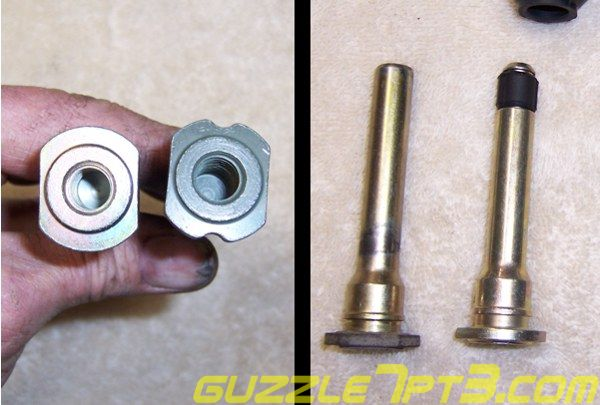 Welcome to guzzle's Front Caliper Slide Pin Upgrade Web